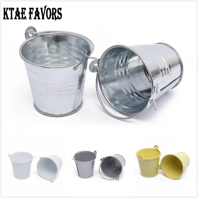 10Pcs Mini Metal Bucket Wedding Favors And Gifts Wedding Souvenirs Event & Party Supplie Metal Flower Pots De Fleur Home Decor