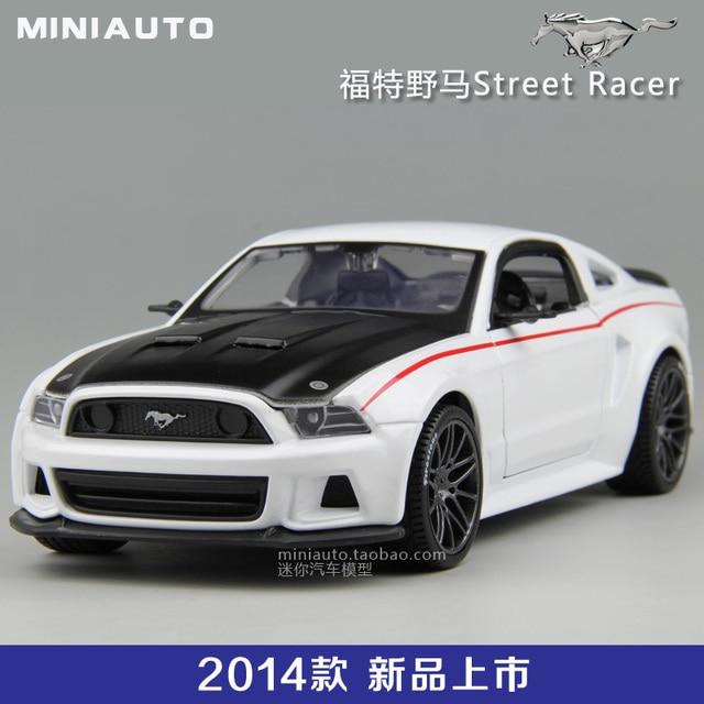 New 2014 Ford Mustang Street Racing Car Model Alloy Meritor Figure 124