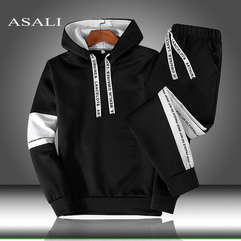 Men/Women Hoodie Sweatshirt Pullover Hooded Sets Sport Suit Tracksuit 2 Piece Hoodies & Sweatpants Autumn Winter Mens Clothing