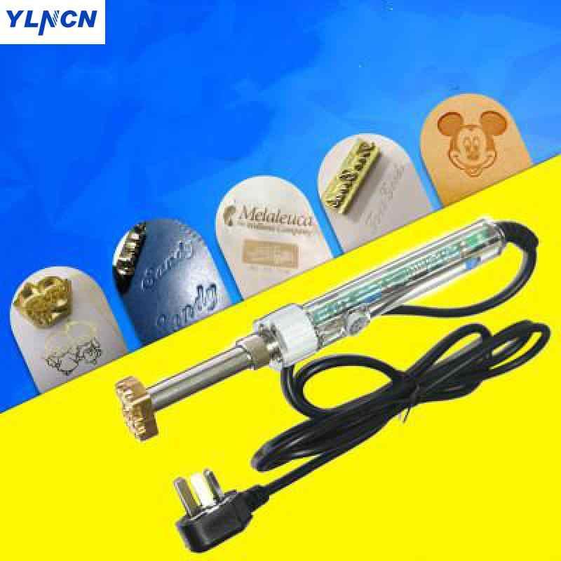 El tutma 60 w/150 w/200 w elektrikli demir sıcak folyo damga basın kabartma makinesi deri el sanatları aracı LOGO marka deri baskı