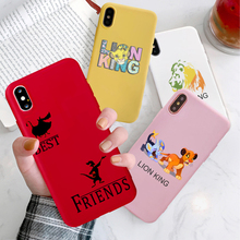 GYKZ Cartoon Lion King Pumba Phone Case For iPhone 7 XS MAX X XR 8 6 6s Plus Hakuna Matte Soft Silicone Back Cover