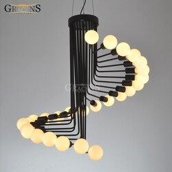 Nowoczesny Loft przemysłowe żyrandol światła Bar schody jadalnia oświetlenie Retro Gracens żyrandole u nas państwo lampy nabłyszczania