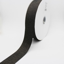 Black Color Gold Purl Twill Ribbon 1-1/2 38mm Handmade Wedding DIY Crafts Tape