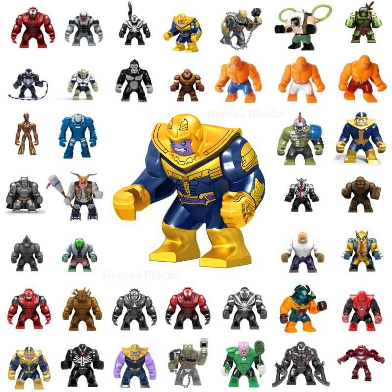 Single Big Large Super Heroes Movie Anti Venom Batman Thanos Model Mini Building Blocks Bricks Toys kids gifts