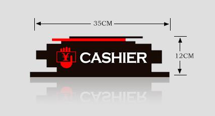 Acrylic Cashier Indicator Desk Sign Stand Hotel Lobby Store Shop Club Servcie Spot Table Signage Rack Customized Personlity Logo signage