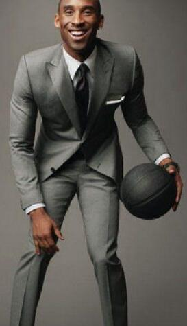 low price sale uk availability many choices of US $126.99 |Kobe Bryant Light Grey Suit Custom Made Light Middle Grey men  Suits, Tailor Made Light Medium Gray Suits For men Gray Wedding Su-in Suits  ...