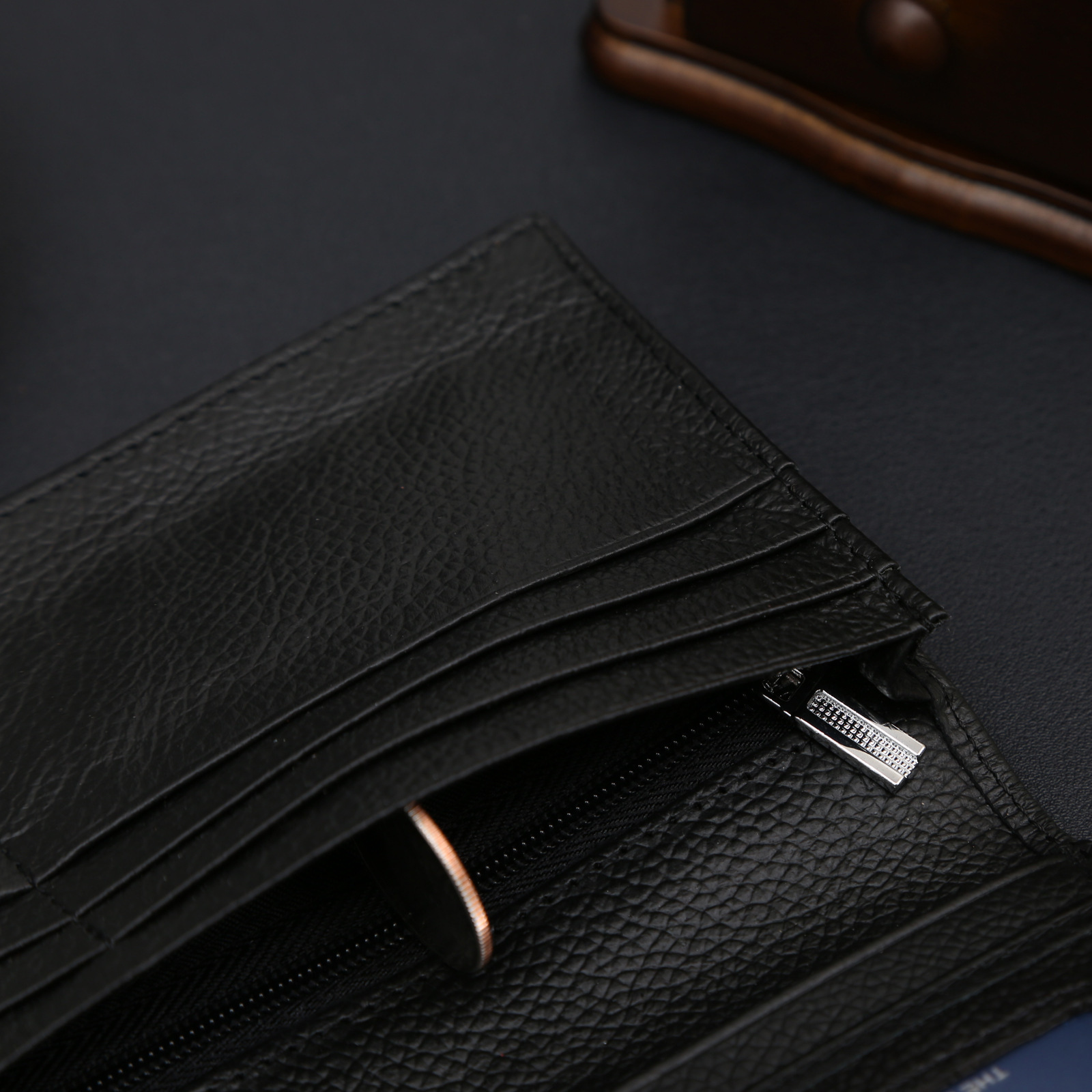 Long Famous Brand Handy Portfolio Leather Men Wallet Purse Male Clutch Bags With Coin Money Perse Portomonee Walet Cuzdan Vallet