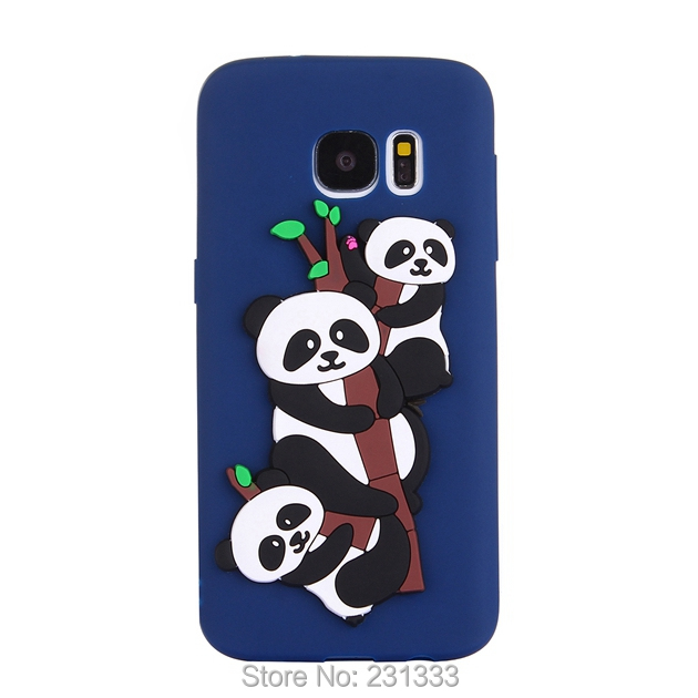 C-ku Panda Cat 3D Cartoon Soft Silicone Case For Samsung Galaxy S7 EDGE S8 PLUS NOTE8 J3 J310 J510 J710 Cute Skin Fashion 100pcs