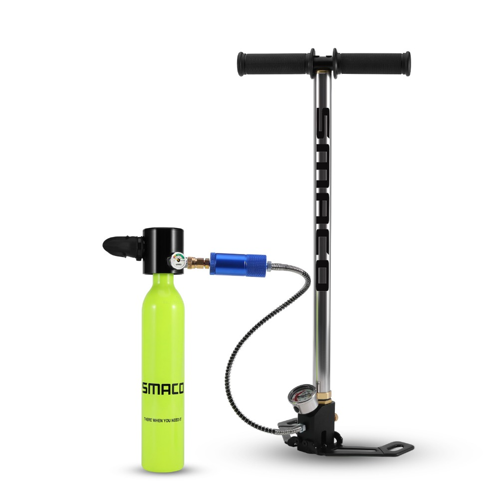 SMACO Diving Equipment Mini Scuba Diving Cylinder Scuba Oxygen Tank -in Snorkels from Sports & Entertainment