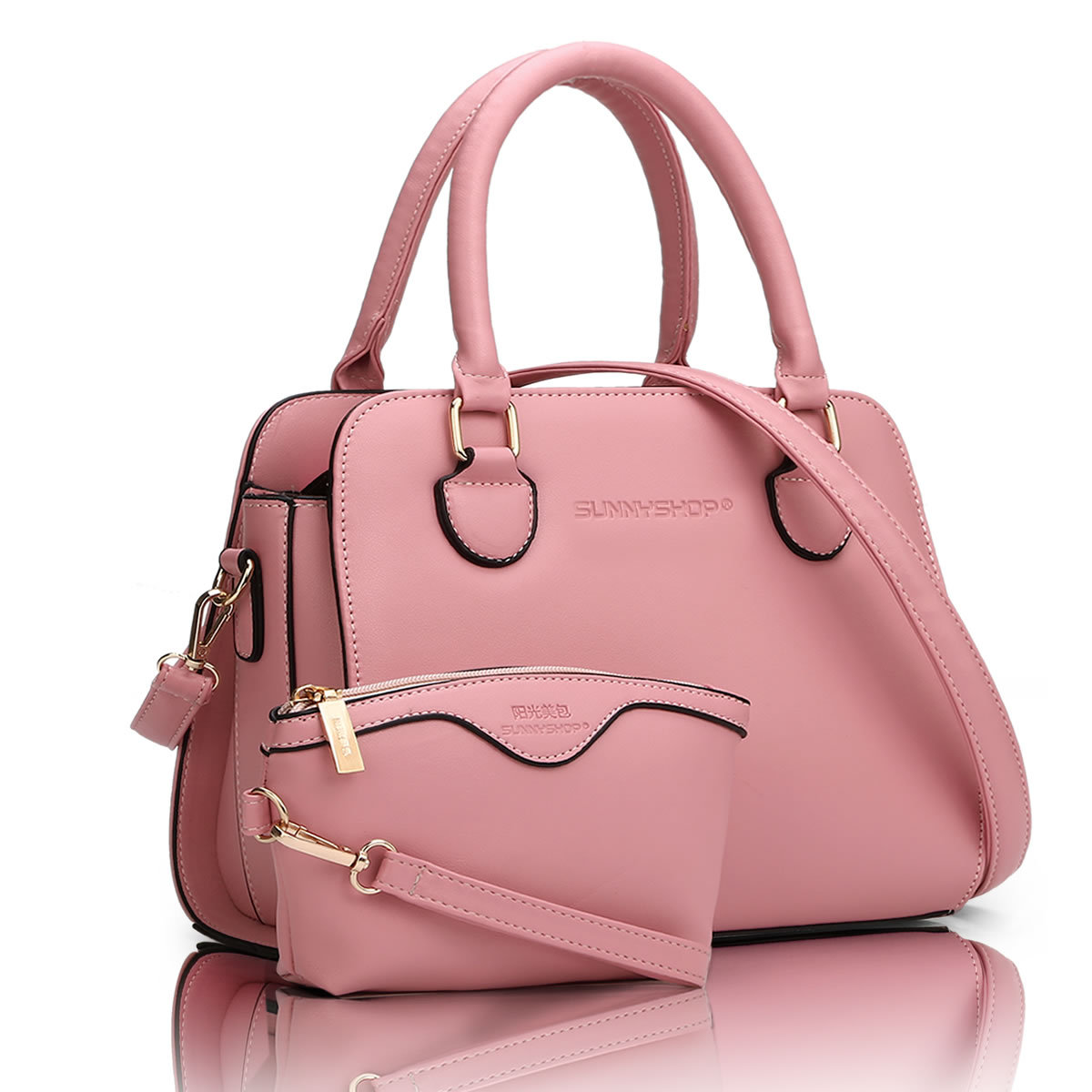 2 BAGS/SET NEW  European American fashion casual handbag  Socialite shoulder bag with small purse  fashion business women bag Q5
