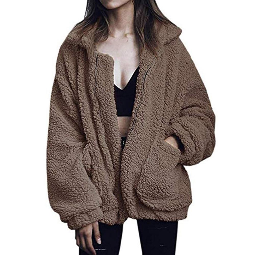 2020 nova moda inverno mulheres jaqueta de pele do falso preto casaco de pelúcia feminino couro manteau femme hiver dropshipping mex peludo colete