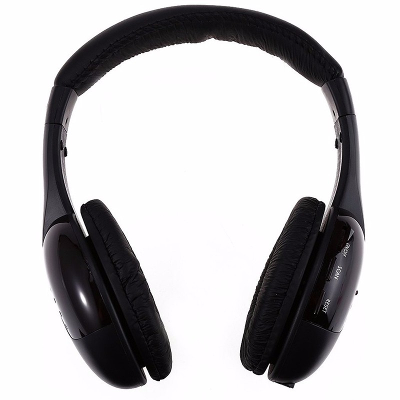 5in1 Wireless Audio-chat Headphone HiFi Monitor Headset FM Radio Earphones With MIC For PC TV DVD Audio Mobile Home Outdoor MP3 (2)