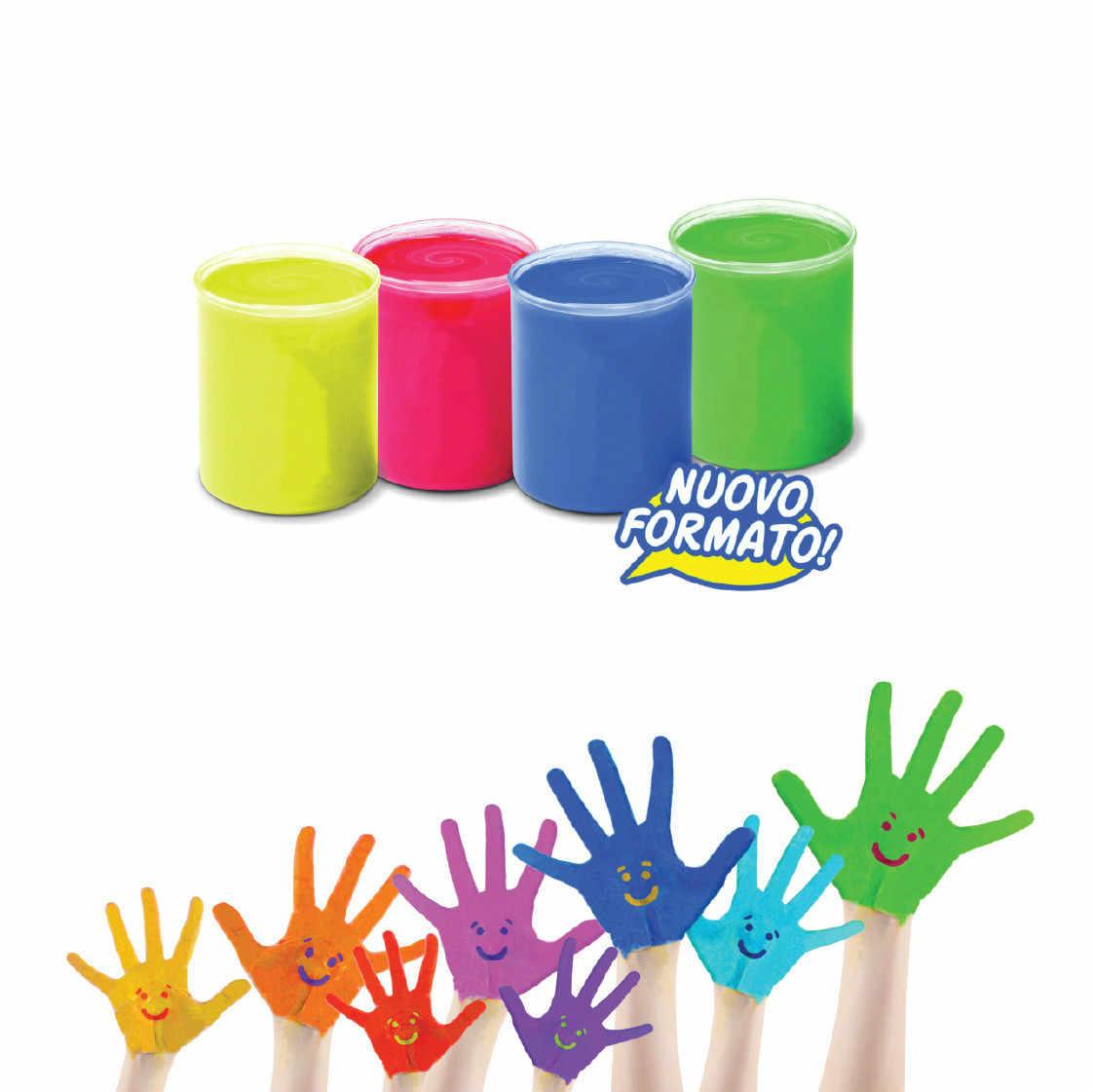 Carioca 6 Renk Cocuk Parmak Boyama Guvenli Toksik Olmayan Kolay