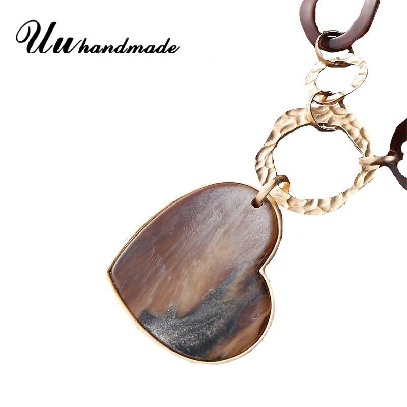 2015 Top Fashion Romantic Nature Generous Fashion Long Chain Necklace Handmade Heart Pendant