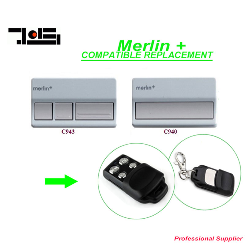 Hot! Merlin C945 C943 C940 Merlin CM842 CM844 CM128 garage door replacement remote control free shipping after market merlin plus compatible remote suit c945 940 933 dhl free shipping