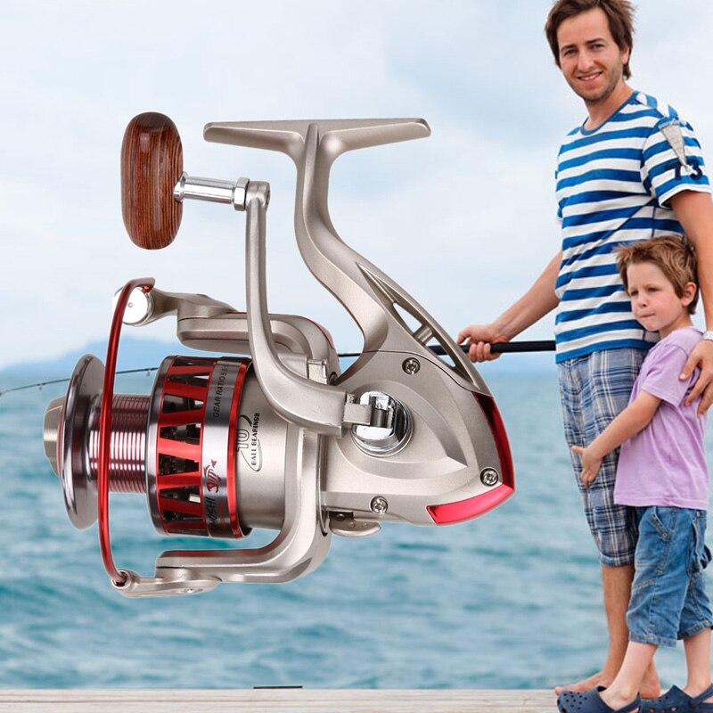 Спиннинг Рыбалка катушка cm1000-7000 серии metal Рыбалка катушка 5.5: 1 10BB + 1 подшипника шары Спиннингом Карп Рыбалка колеса