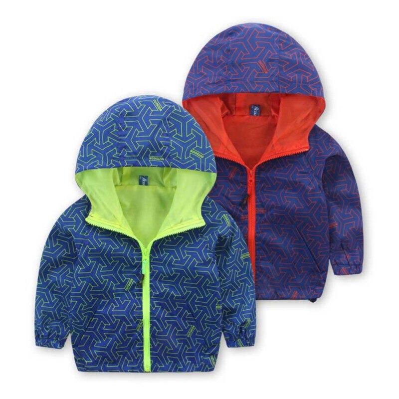 Демисезонная детская одежда верхняя одежда для мальчиков и девочек; детская камуфляжная куртка с капюшоном красивая ветровка с длинным рук...