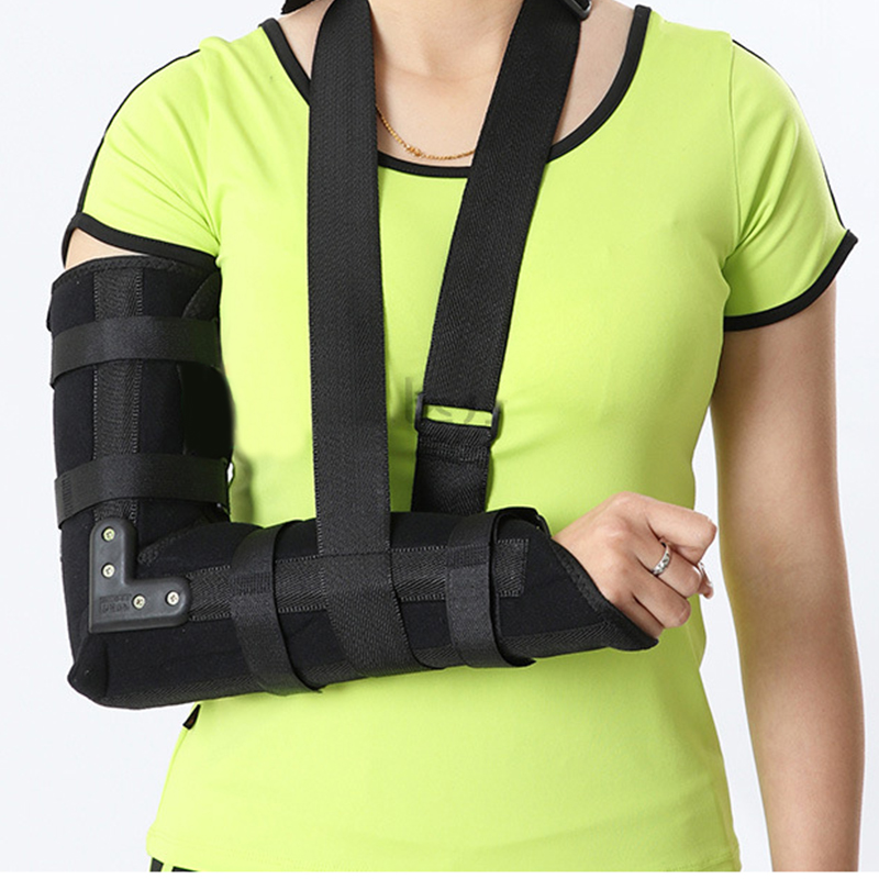 Arm Sling Elbow Shoulder Padded Support Brace Humerus Brace Splint Medical Grade Quality comfort fit HELPS support & elevate arm factory direct sale hinge elbow brace arm support medical orthopedic orthotics supports