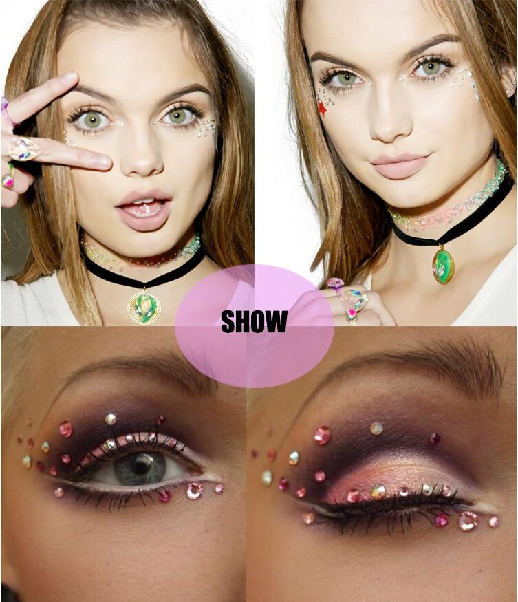 Jewel Eyes Sticker Tattoo Eyes Maquillaje Crystal Eyeliner Diamond - Tatuaje y arte corporal - foto 5