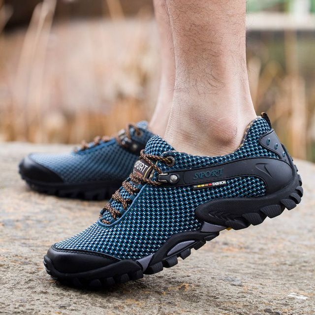 Outdoor Platform Man Hiking Shoes Waterproof Trekking Sneakers Men Breathable Non-slip Travel Shoes Climbing Sports Water Shoes