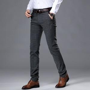 Image 3 - VOMINT 2020 New High Quality Mens Elastic Casual Pants Mens Business Dress Slim Jogger Stretch Long Trouser Male Suit Pants