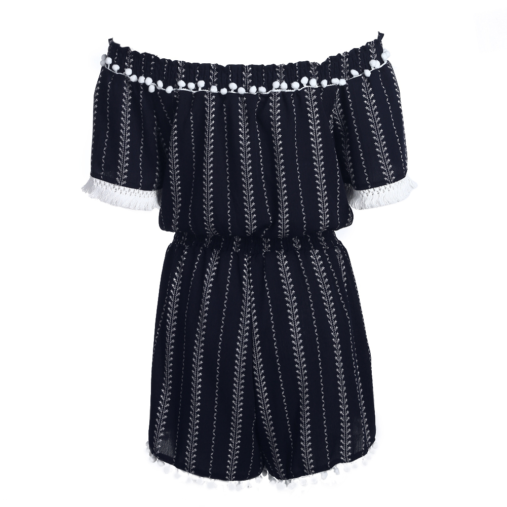 Sexy Vintage Women Bohemia Floral Printed Shorts Jumpsuits Casual Fashion Slash Neck Short Sleeve Summer Beach Party Rompers