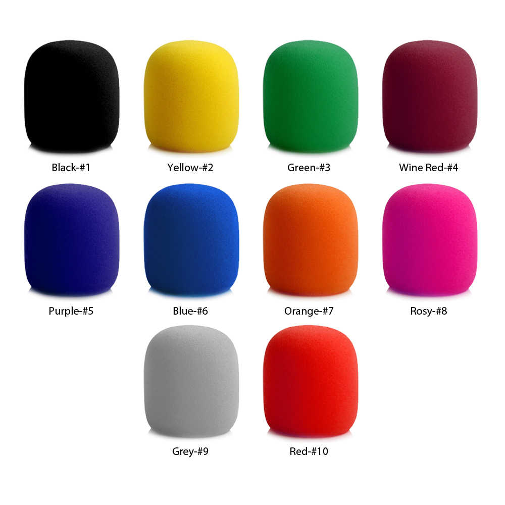 Microfone de palco portátil esponja pára-brisas espuma mic capa karaoke dj vendas azul preto/verde/vermelho/azul/amarelo