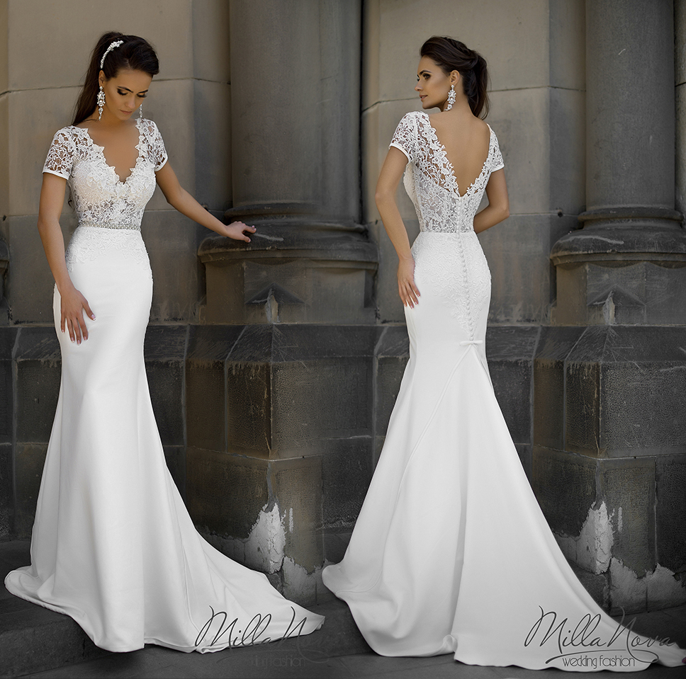 Robe De Mariage Sexy New Wedding Dress 2016 V Neck Short
