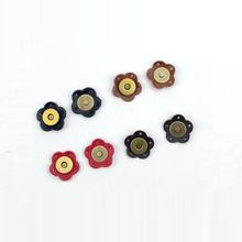 NEW 5PCS Bag Magic Buttons Leather  Buckle Flower Handmade Wallet Card Pack Buckles with Holes for DIY Handbag Accessories