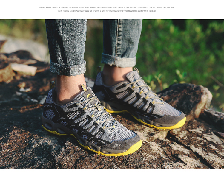 New 2017 Summer Unisex Aqua Shoes Air Mesh Clorts Outdoor Shoes Women Sneakers Lace Up Breathable Hiking Shoes Size 35-44 V1 (49)
