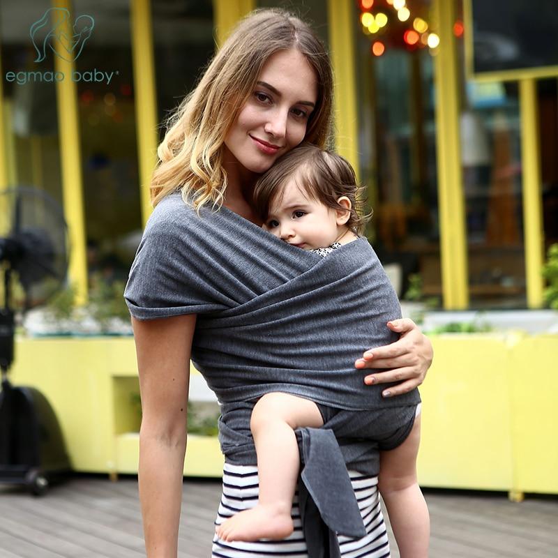 NewBaby-housse de transport pour bébé | Sac à dos confortable en coton, respirant, doux et naturel, à la mode, pour bébés de 0-2 ans