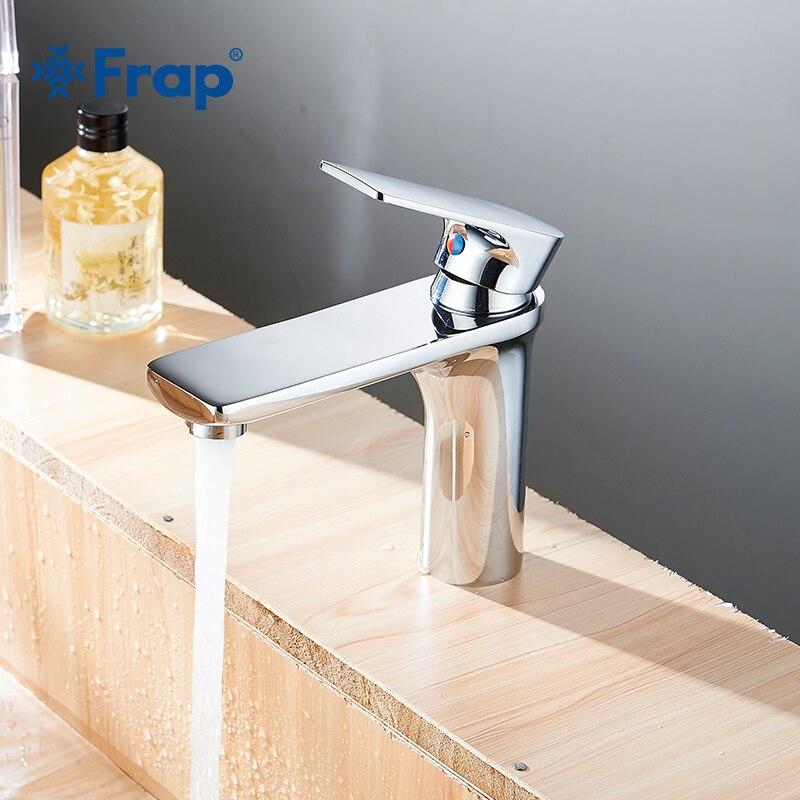 Frap New Bathroom Basin Sink Faucet Chrome Single Handle Basin Tap Faucet Mixer Hot & Cold Water Bathroom Accessories Y10112