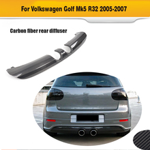 Real Carbon Fiber Rear Diffuser for Volkswagen Golf 5 R32 Bumper