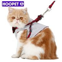 HOOPET Samll Cat Dog Walking Fabric Harness Jacket Vest Leash Small Pet 2 Size Fashion Design