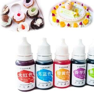 Ingredientes para coloração de alimentos, creme de macaron, bolo, fondant, cozimento, pigmento comestível, cor, utensílios de confeitaria, 1 peça de 10ml 13 cores