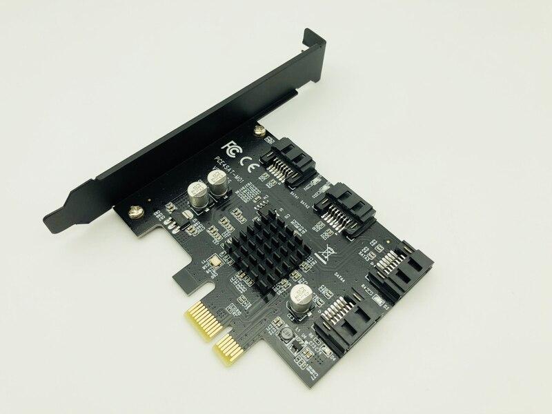 Controlador de Expansão Chip para Computador Pci-e para 4 Portas Sata Cartão Adaptador Pci Express Marvell 6g Sata3.0 88se9215 pc Hdd Ssd 3.0