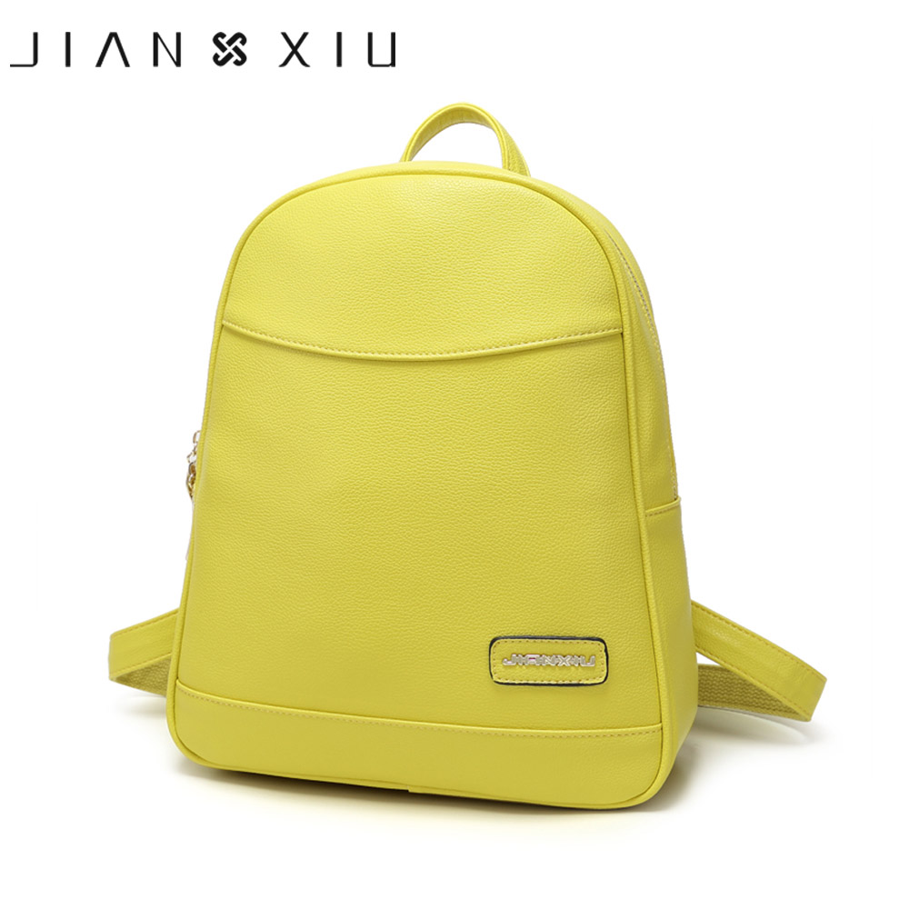 цены JIANXIU Women Pu Leather Backpack School Bags Mochilas Bolsas Mochila Feminina Mujer Bagpack Escolar Backpacks New Back Pack Bag