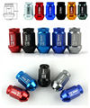 40 MM JDM Lingotes de Alumínio D1 spec Racing Wheel Lug Nuts M12x1.5 20 pçs/set