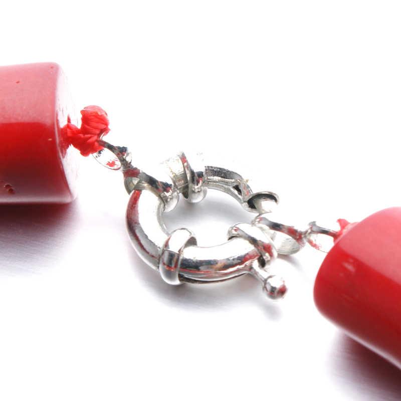 ילדה ירח עיצוב חדש חרוזים אלמוגים אדומים חרוזים אופנה אפריקאים סט תכשיטי חתונת נשים המפלגה שרשרת & עגיל תכשיטים סטים
