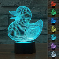 Baby Shower Party Supplier Lovely Cartoon Big Duck Cute Turtle Heart Bear LED 3D Visual Table