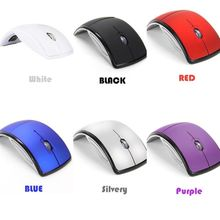 Wireless Mouse 2 4G Computer Mouse Foldable Folding Optical Mice USB Receiver for Laptop PC Computer Desktop Office Wireless cheap 2 4Ghz Wireless 1200 Finger Right Battery Opto-electronic Dec-04 Greatlizard 2xAAA battery (not included) Black Blue Red White Silver Purple