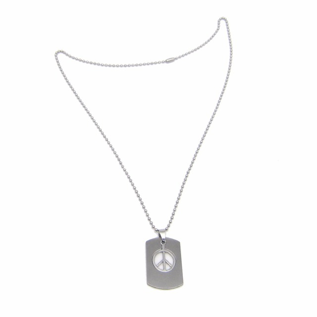 New world peace logo necklace dog tag stainless steel pendant new world peace logo necklace dog tag stainless steel pendant fashion jewelry love for women and aloadofball Choice Image