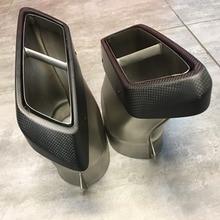 18CM Carbon Fiber Exhaust Muffler Tips Pipe AK Style For Benz A C E GL CLS W222 C217 R231 W205 W212 W176 C117 W218 X166 C292