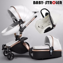 AULON Oyun Long baby stroller two way high profile shock absorber baby car can sit