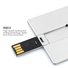 promotional flash drive silver metal portable pocket credit card u disk external storage usb card flash for business man
