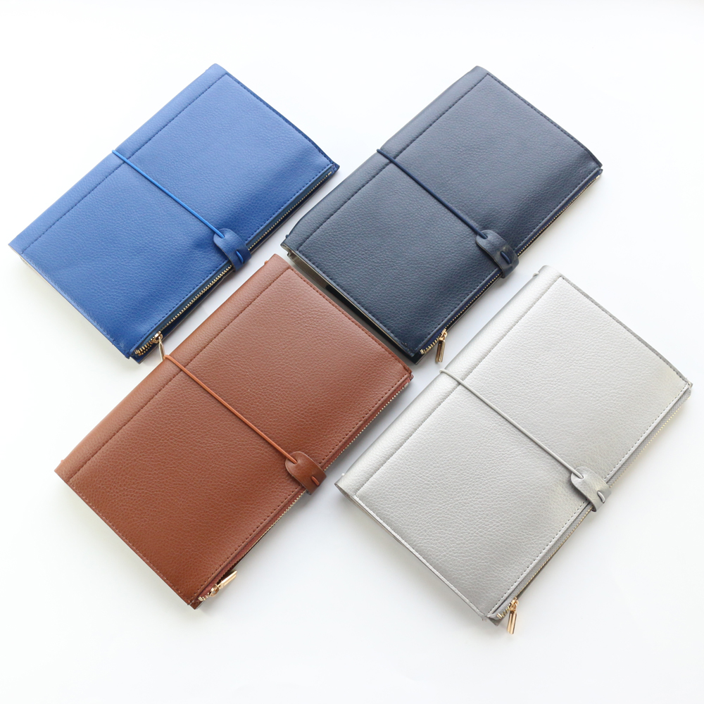 Domikee classic vintage office school leather travelers notebooks and journals stationery with zipper pocket and card bag цена 2017