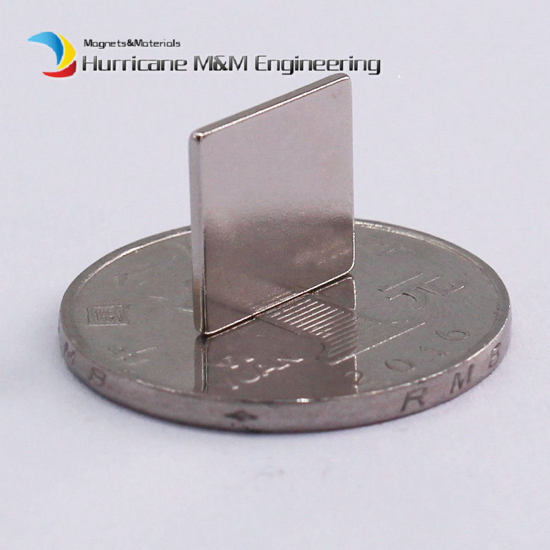 1 Pack NdFeB Block 12x12x1 (+/-0.1)mm Thin Square Magnet Bar Strong Neodymium Permanent Magnets Rare Earth Lifting Magnets N42 ndfeb magnet block 40x25x10 mm super strong magnet neodymium permanent magnets rare earth magnets grade n42 nicuni plated