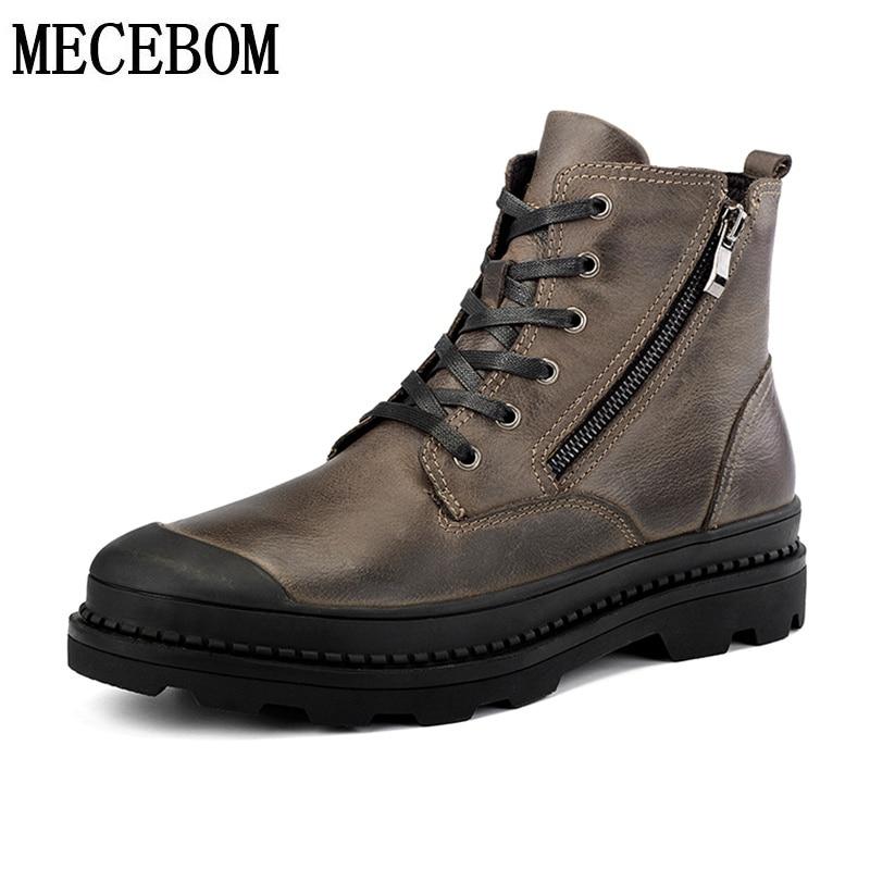 9550m Brown 9550m Cálido Piel Fur De Grande Genuino Para Botas Brown Invierno Talla 47 Hombres 9550m Bota Zapatos Hombre 9550m Fur M Cuero 9550 Ocio Tobillo Black Black wBxqOAFC