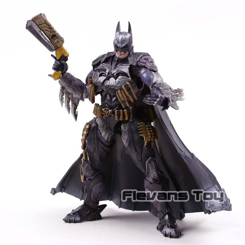 Play Arts Kai DC Comics Super Hero No.14 Batman Armored PVC Action Figure Collectible Model Toy play arts kai street fighter iv 4 gouki akuma pvc action figure collectible model toy 24 cm kt3503