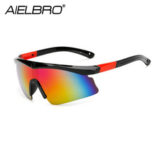AIELBRO Men Sport Sunglasses Cycling UV400 Protection Golf Sun Glasses Women Driving Fishing Eyewear